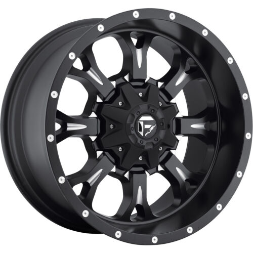 18x9 Black Fuel Krank 6x135 & 6x5.5 +20 Wheels Nitto NT555R P305/40R18 Tires