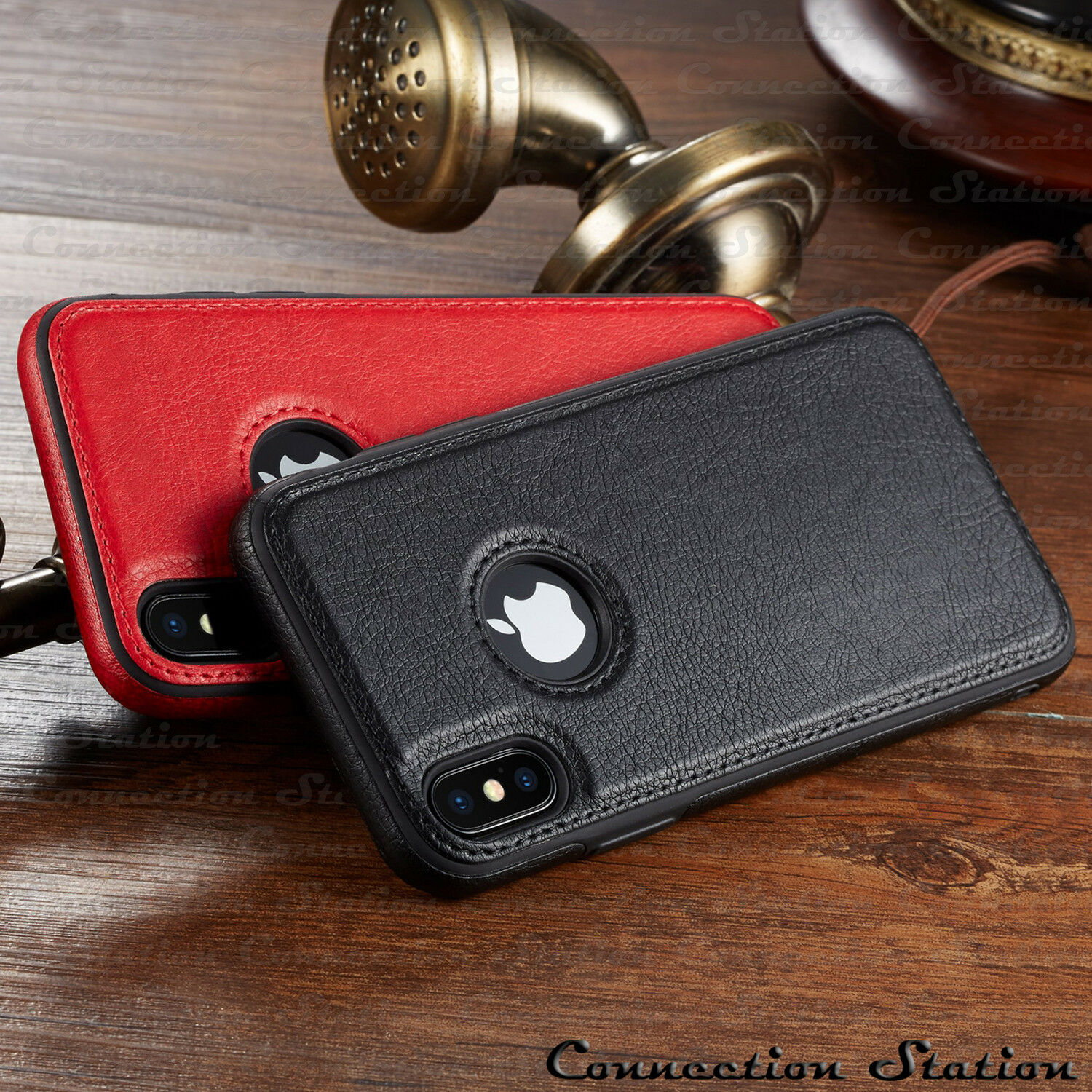 SLIM Luxury Leather Back Ultra Thin TPU Case Cover For iPhone XS MAX XR 8/7 Plus