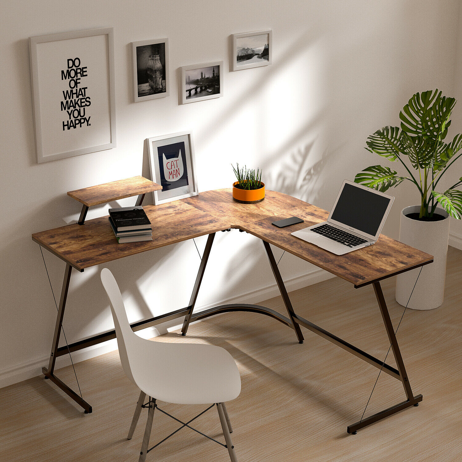 L Shaped Desk Home Office Desk Corner Computer Gaming Laptop Table Workstation