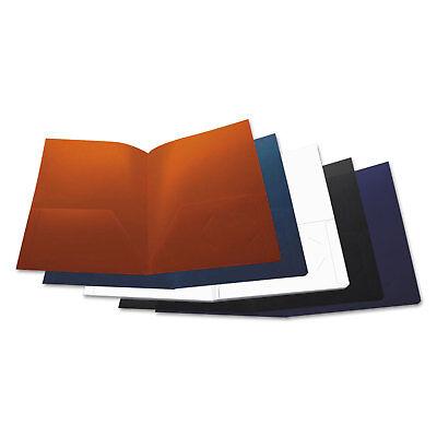 Universal Two-pocket Plastic Folders 11 X 8 12 Assorted 10pack 20545