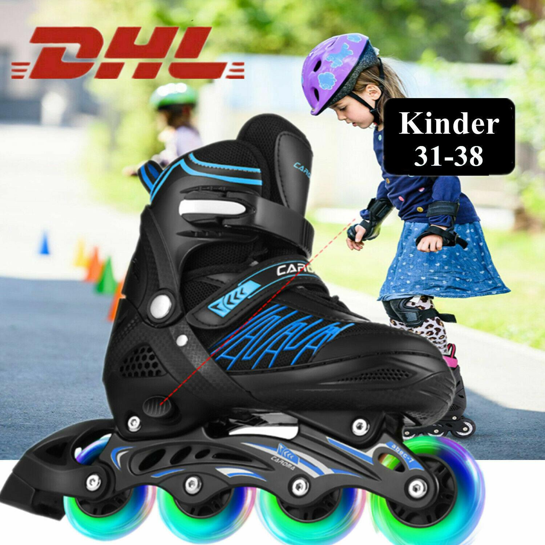 Inliner Skate Soft-Boot Kinder Jugend Rollschuhe verstellbar Mädchen Junge m 06
