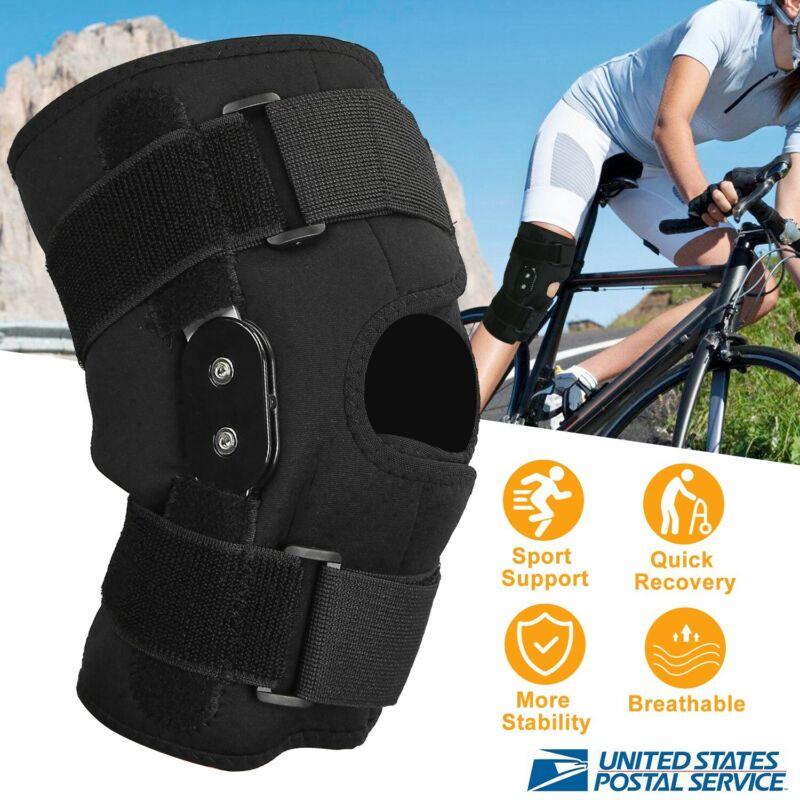 Adjustable Hinged Knee Patella Support Brace Sleeve Wrap Cap Stabilizer Sports