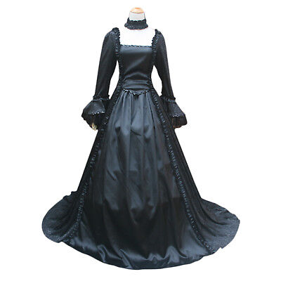 Gorgeous Victorian Georgian Renaissance Medieval Ghost Women Vampire Witch Dress