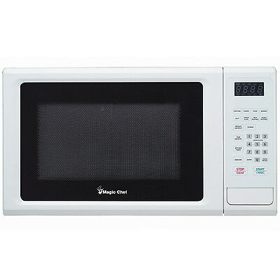 Magic Chef MCM1110W Microwave Oven Countertop 1.1 cu ft 1000