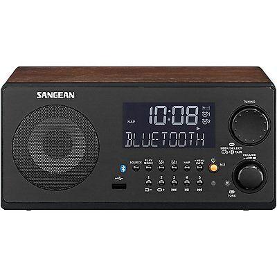 Sangean Am Fm Rds Bluetooth Wireless Usb Didgital Tuning Receiver Walnut Wr 22Wl