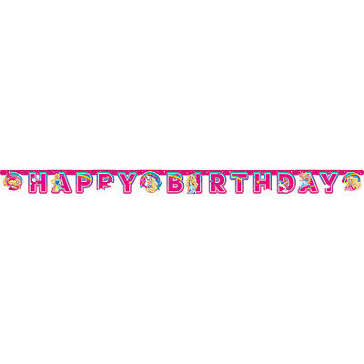Barbie Dreamtopia Kinder Happy Birthday Buchstaben Transparent Dekoration Party ()