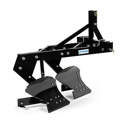 Titan Attachments 18-in Double Bottom Tow-behind Moldboard Turn Plow Category 1