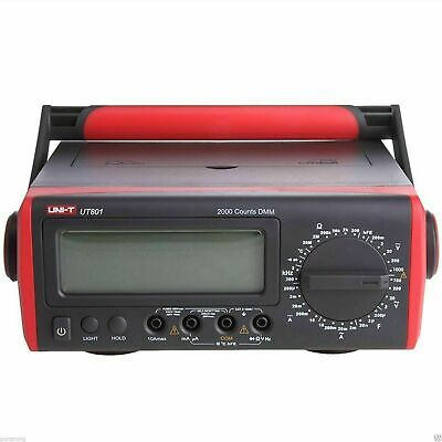 Uni-t Ut801 Bench Type Digital Multimeter Thermometer Lcd Display Data Hold