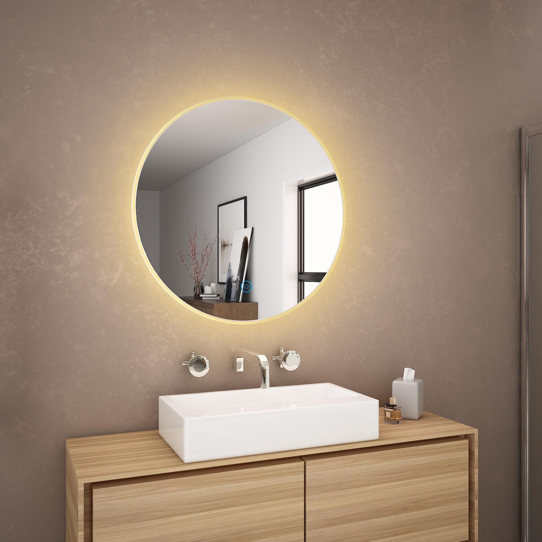 600x600mm Bathroom Led Round Mirror
