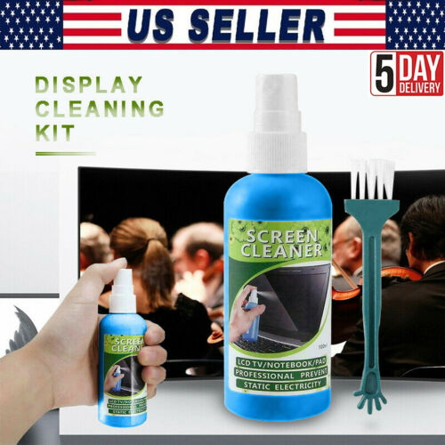 3in1 Laptop Cleaning Kit Monitor TV PC LED LCD Screen Cleaner Plasma Cloth Brush
