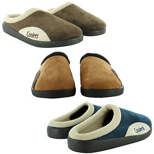 NEW-MENS-COOLERS-FLATS-LIGHTWEIGHT-ONS-MULE-SOFT-WARM-SLIPPERS-SIZE-SHOES