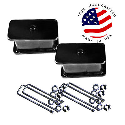 "D Ranger Lift  Rear 2"" Fabricated Steel Blocks & U Bolts 1998-2011 Ford 4x4 4x2"