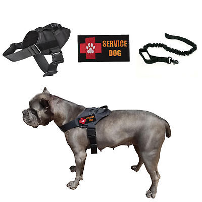 K9 Service Dog Vest Police No-Pull Military Harness W/2 Patches/Leash (Optional) ()
