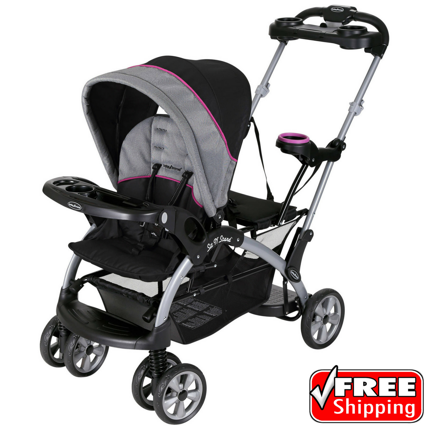 Baby Trend Sit N Stand Ultra Double Stroller Millennium