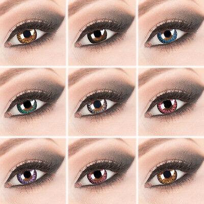 Farbige Big Eyes Anime Cosplay Kontaktlinsen Ohne Stärke Monatslinsen Larp (Big Eyes Kontaktlinsen)