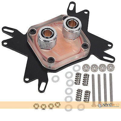 New Water Cooling Computer CPU Block Head Copper Base for INTEL