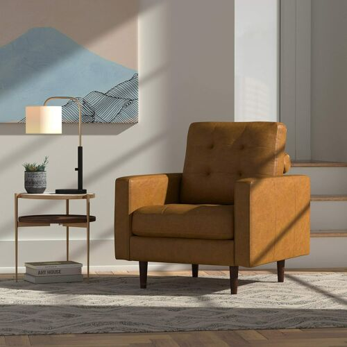 Amazon Brand - Rivet Cove Modern Tufted Accent Chair with Tapered Legs, Mid-Cent