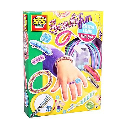 SES 00847 Bastel-Set Kreativ-Packung SCOUBIFUN Mode-Schmuck Scoubidou Flechtband