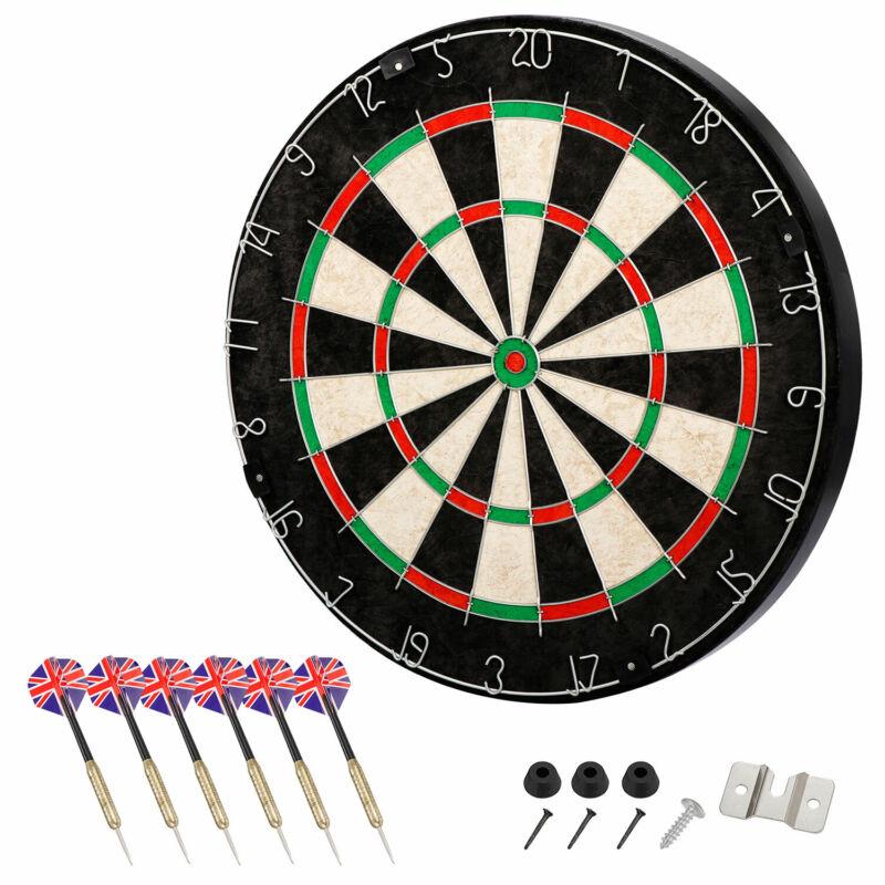 Dartboard Set Shot King  Bristle Steel Tip Metal Radial Spider Wire Sisal Board