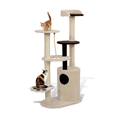 New 55  Cat Tree Tower Scratching Post Condo Furniture Pet Kitty Play House Toy