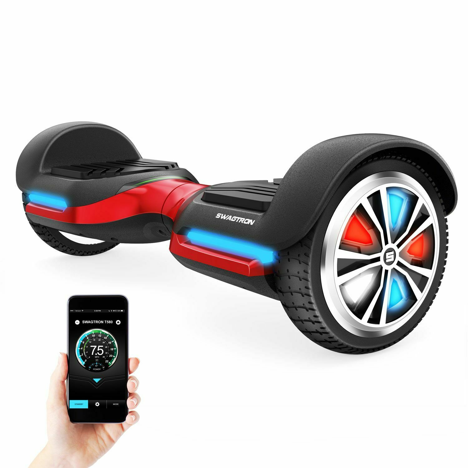vibe t588 app enabled bluetooth hoverboard led