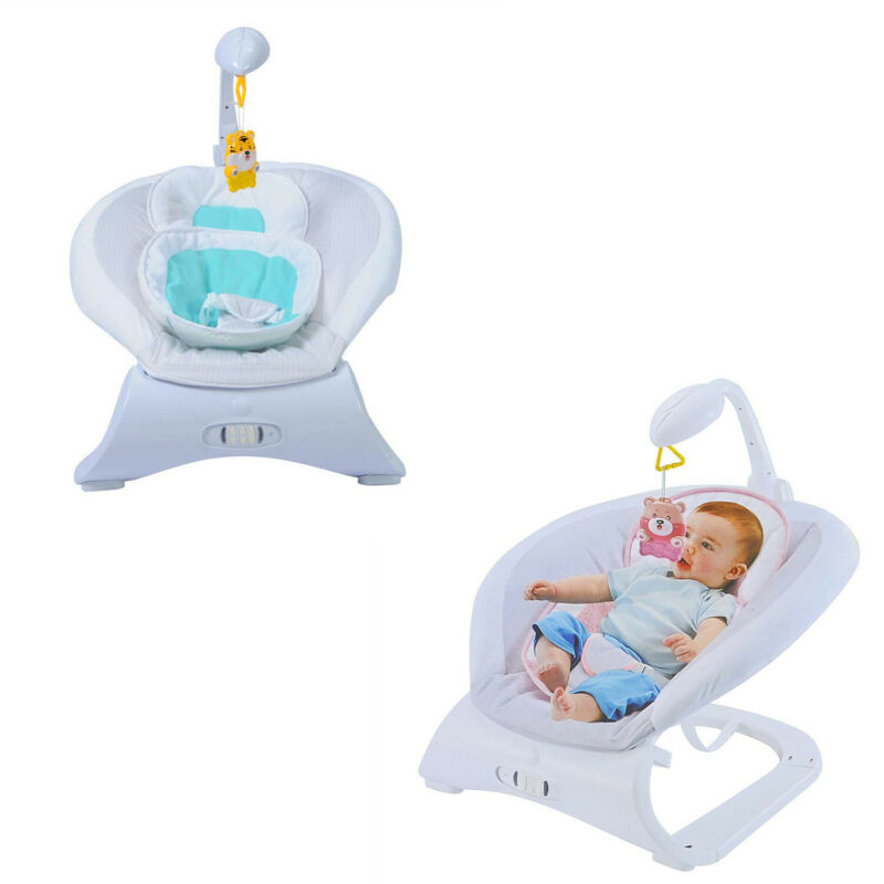 Kariyer Infant Baby Bouncer Chair with Vibrating Seat Rocker Sleeper Swing Toy