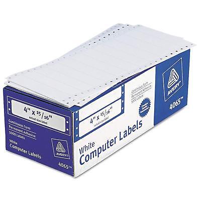 Avery 4065 Dot Matrix Printer Address Labels 1 Across 1516 X 4 White 5000b