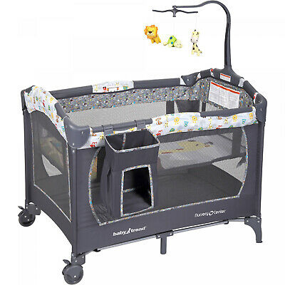 Baby Infant Nursery Center Crib Playpen Playard Bassinet 2 W