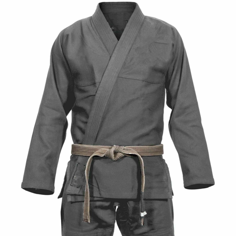Bjj gi, Judo Uniform, Single Weave Grey Jiu Jiutsu, Hapkido