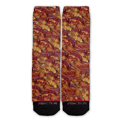 Function - Bacon Fashion Sock Eggs Toast Lover Breakfast Food Chef Gift ()