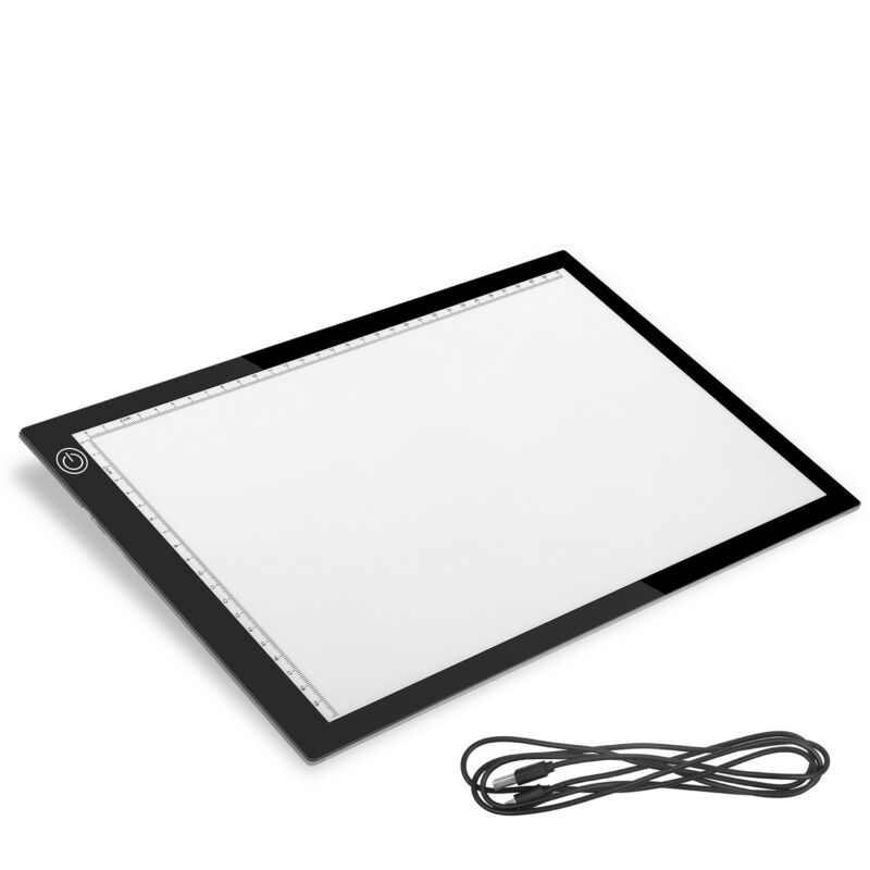 A3/A4 LED Tracing Light Box Drawing Tattoo Board Pad Table Stencil Artist USA