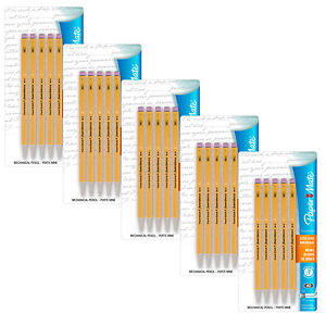 Paper Mate SharpWriter Mechanical Pencils, 0.7 mm, #2 HB, Yellow, Pack of 25