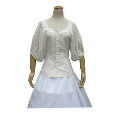 Victorian Punk Lolita Cosplay Shirt Costume Peasant Cotton Halloween Blouse  ()