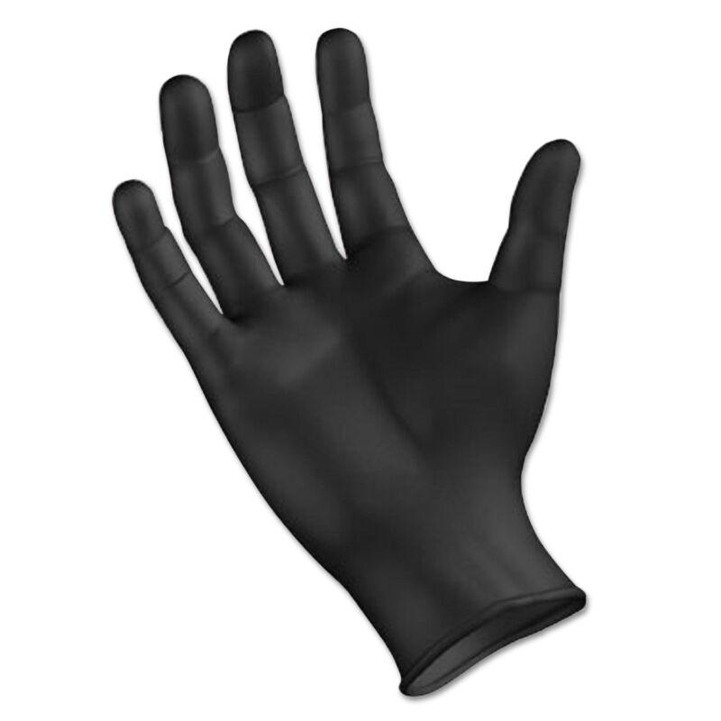 Boardwalk Disposable General Purpose Powder-Free Nitrile Gloves XL Black 4.4mil