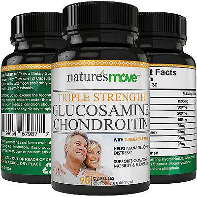 Glucosamine Chondroitin Msm Triple Strength 1500Mg With Boswellia  Turmeric  Msm