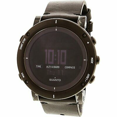 Suunto Men's Essential SS021215000 Black Leather Japanese Quartz Sport Watch