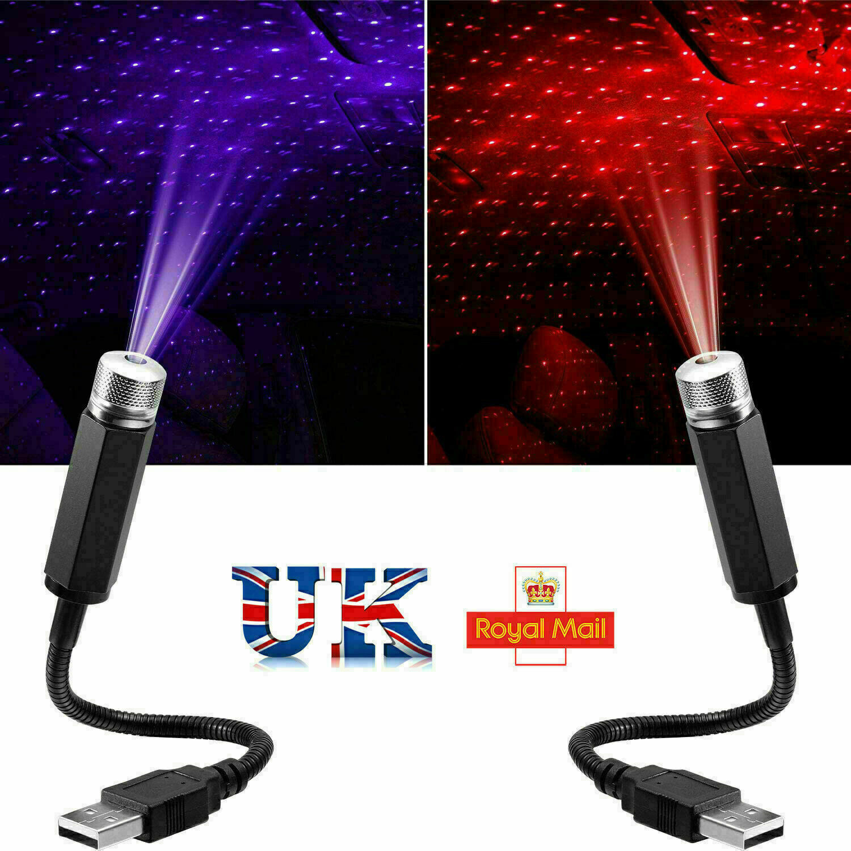 Car Parts - USB LED Car Roof Interior Atmosphere Star Night Light Lamp Projector Decor Light