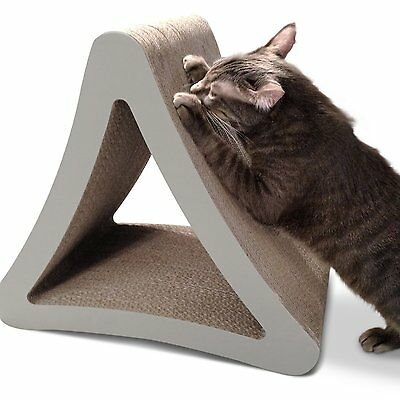 PetFusion 3-Sided Vertical Cat Scratcher Post Exercise Catnip Play Sleep Hide