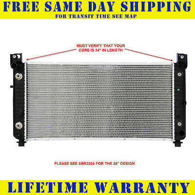 "RADIATOR For Chevy Fits Silverado Suburban Tahoe Yukon With EOC *34"" Core LENGTH"