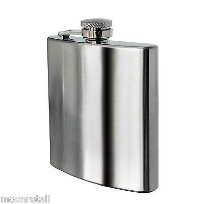 8oz 230ml STAINLESS STEEL POCKET HIP BOTTLE FLASK ALCOHOL VODKA WHISKEY HOLDER