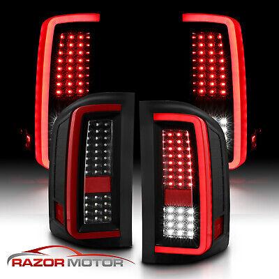 2007-2014 Chevy Silverado 1500 2500 3500 Black LED Tail Lights Pair