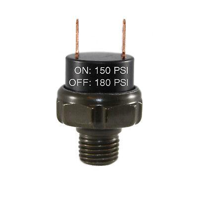150-180psi Air Pressure Switch Tank Mount Thread 14 Npt 12v24v For Train Horn