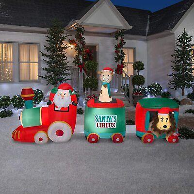 Gemmy 12' Inflatable LED Christmas Santa Circus Train