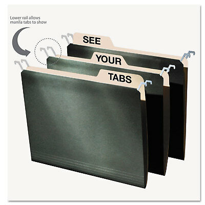 Find It Hanging File Folders With Innovative Top Rail Letter Green 20pack