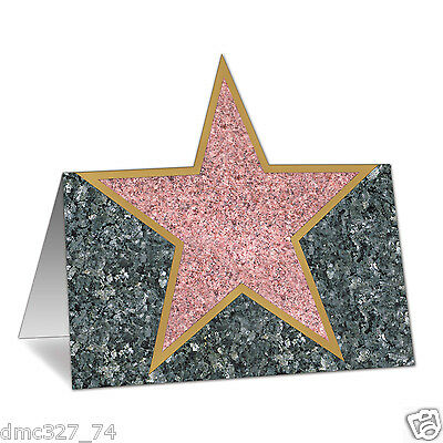 12 HOLLYWOOD Movie Night Awards Party Decorations STAR Walk Of Fame PLACE CARDS ()