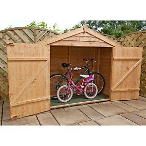 Wooden Bike Storage Shed Outdoor Garden Store Bikes Tools Patio Furniture Store