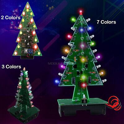 Diy 3d Led Flashing Christmas Tree Circuit Kit Glitter 237 Colors Tree Gift