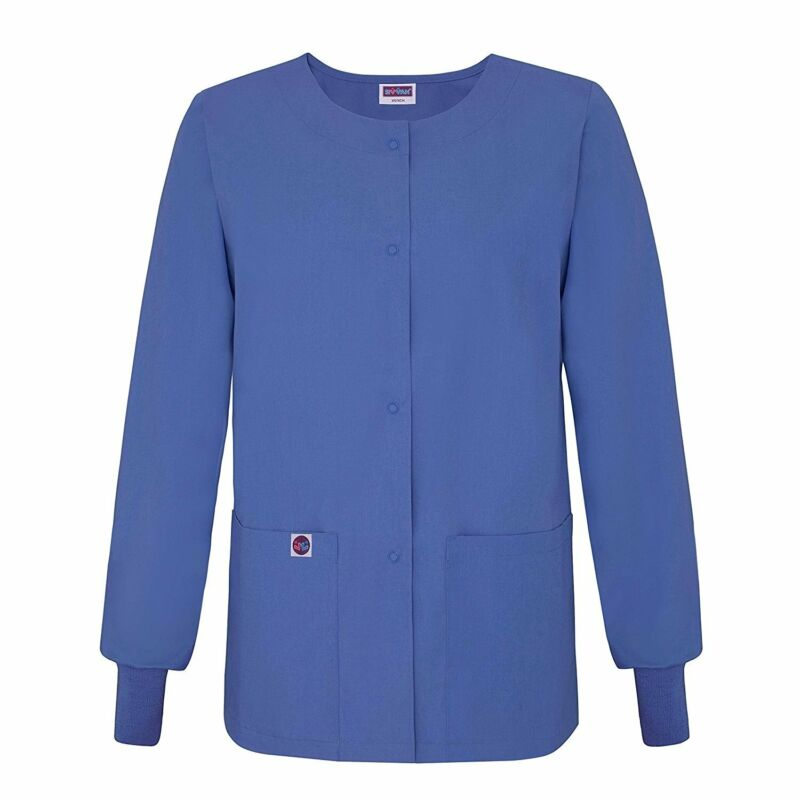 Sivvan Women's Scrub Warm-Up Jacket / Front Snaps - Round Neck