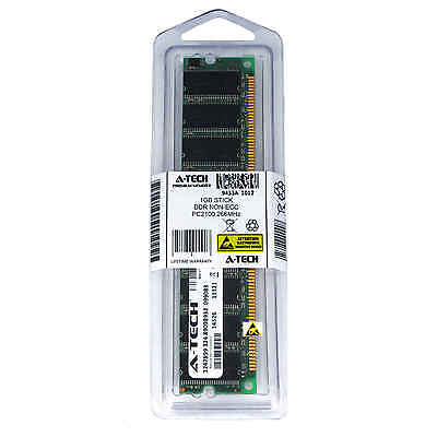 Atech 1GB DIMM DDR Desktop PC2100 2100 266 266mhz 184pin Low Density Memory Ram