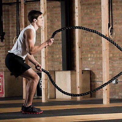 50ft Poly Dacron Battle Rope Undulation Exercise Ropes Cross Strength Training for sale  Scarborough